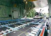 The cargo bay of the C-130J has a total usable volume of over 4,500 cubic feet and can accommodate loads up to 37,216lb.