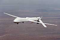 The Predator Medium Altitude Long Endurance UAV. A typical Predator system configuration would include four aircraft, one ground control system and one Trojan Spirit II data distribution terminal.